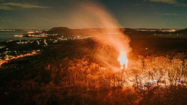 Tűzeset miatt beomlott a révfülöpi kilátó