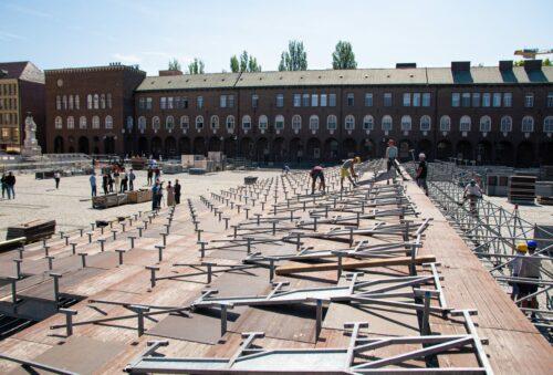 Már épül a Dóm téren a Szegedi Szabadtéri helyszíne